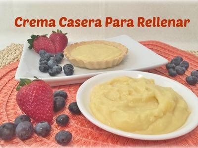 Crema Pastelera Para Rellenar Casera Facil Y Economica