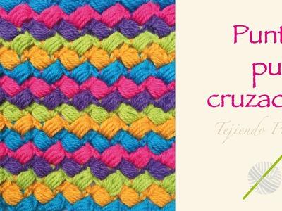 Crochet divertido paso a paso: punto puff cruzado de colores!