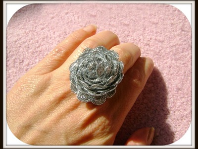 DIY Anillo flor de cinta - Flower Ring