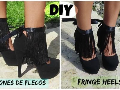 DIY Tacones de Flecos. Fringe heels
