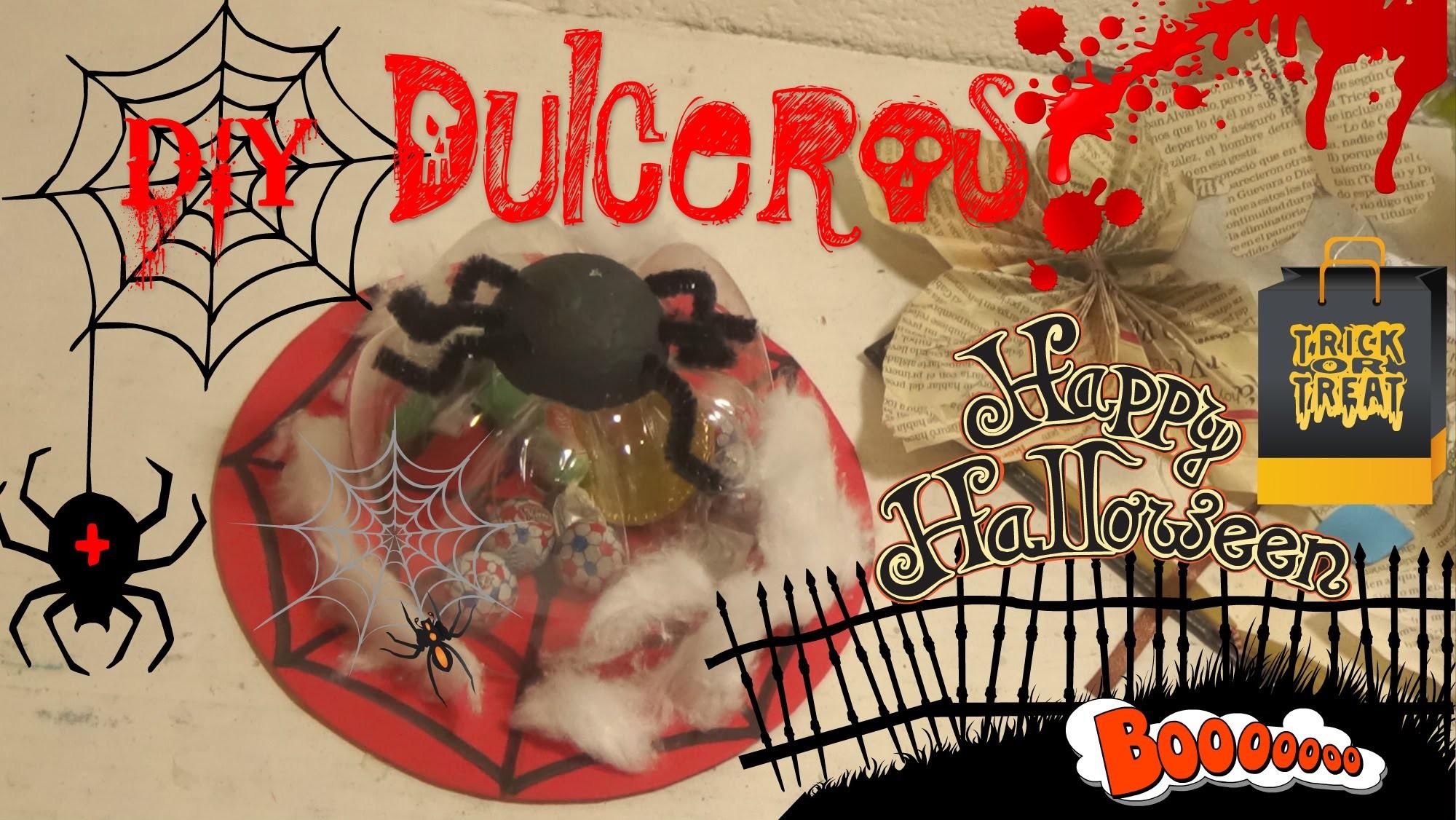 Dulcero para Halloween Araña manualidad.EASY & CHEAP HALLOWEEN CRAFTS