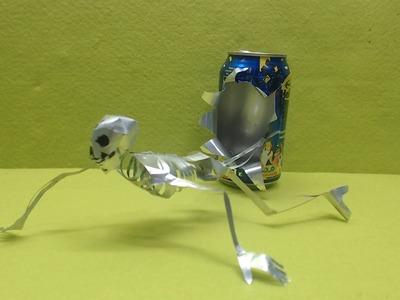 Esqueleto hecho con latas de Aluminio tutorial