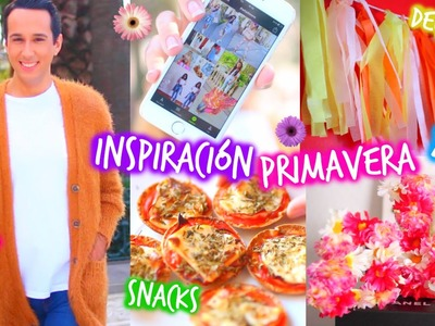 ¡Inspiración para Primavera! 2015 ❀ Decor DIY, Snacks, Música, Outfits, Apps & Más