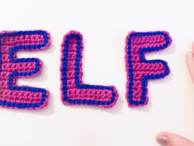 Letras E, L y F a crochet | How to crochet letters E, L and F