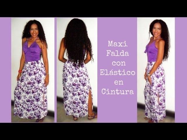 Maxi Falda con Elástico en Cintura - Tutorial de SANDRA PADILLA