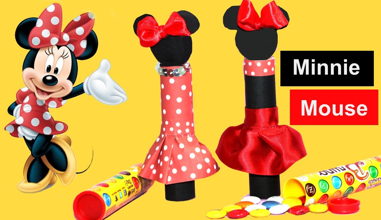 Minnie mouse con chuches. Tube favors