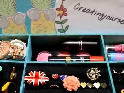 Organiza tus accesorios! DIY Anillero.joyero - Manten tu cuarto ordena