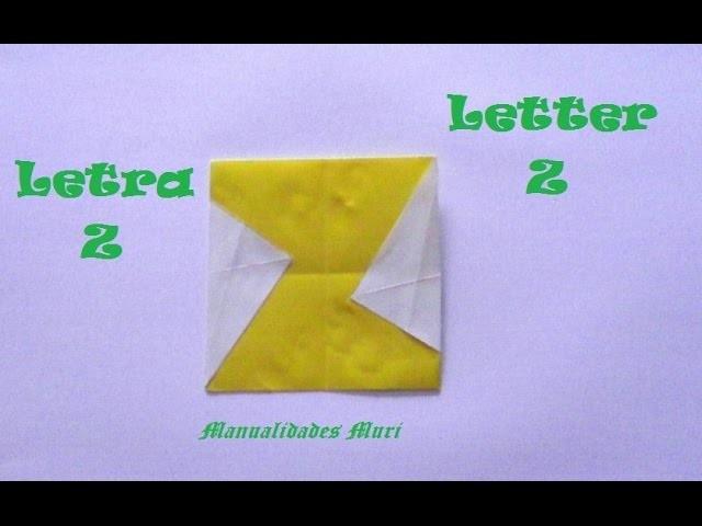 Origami - Papiroflexia. Abecedario muy fácil. Letra Z