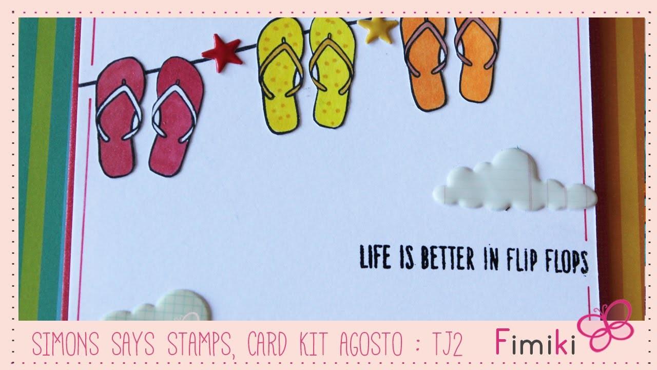 Simons Says Stamps, Card Kit Agosto - Tarjeta 2