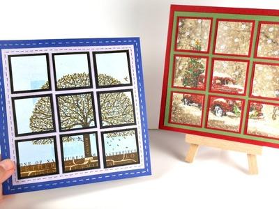 Tarjeta Mosaico navideña | Cardmaking | Mundo@Party