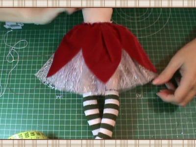 Tutorial Hada de la Navidad: Vestido 2ª parte: sobre falda