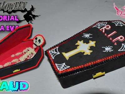 ♥ Tutorial Halloween: Ataud de Goma Eva (Foamy) ♥