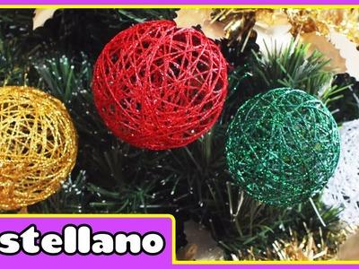 Cómo Hacer Bolas Navideñas - Christmas Baubles - Adornos Navideños by Hooplakidz Castellano