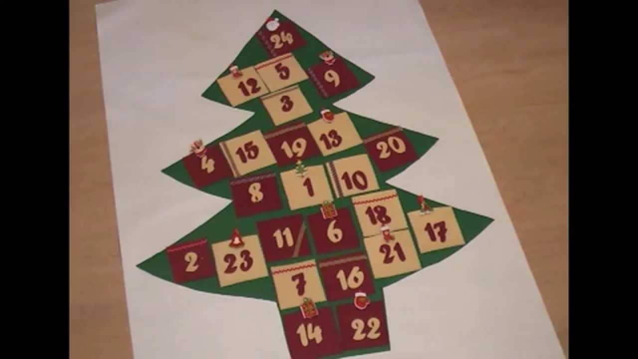 Cómo hacer Calendario de adviento de fieltro en forma de árbol - DIY- Manualidad Navidades