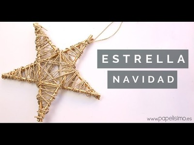 Cómo hacer estrella para árbol de Navidad. Manualidades de Navidad