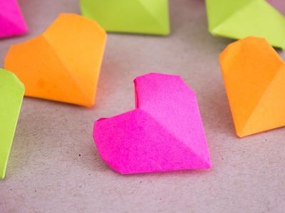 Como hacer Mini Corazones Diamante de papel (◜௰◝). Jeguridos