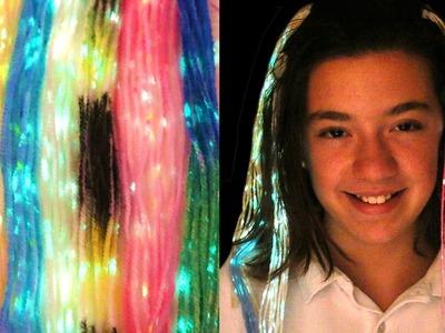 Cómo hacer pelo que brilla en la oscuridad. Glow in the dark hair