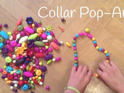 Cómo hacer un collar casero con pop arty para niños
