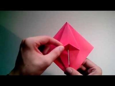 Como hacer un corazon de papel que late facil  [Origami - Papiroflexia]