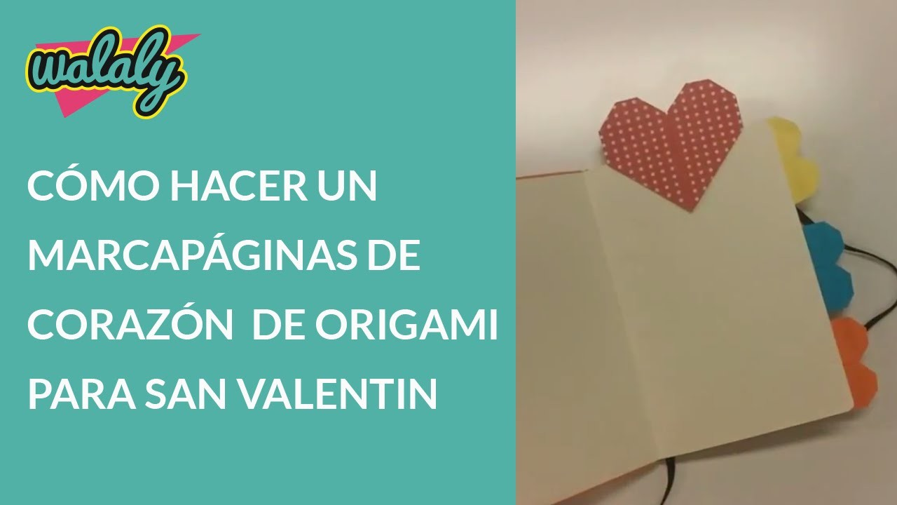 Cómo hacer un  marcapáginas de corazón de origami para San Valentín