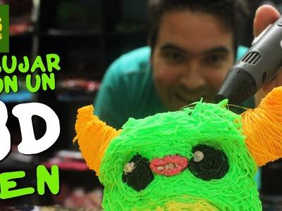 DIBUJANDO EN EL AIRE MUÑECOS 3D! Review boligrafo impresora 3D barata (3D Print Pen ) en Español