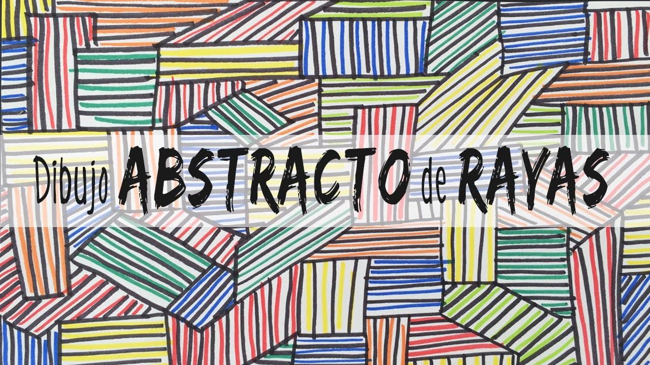 Dibujo abstracto de rayas