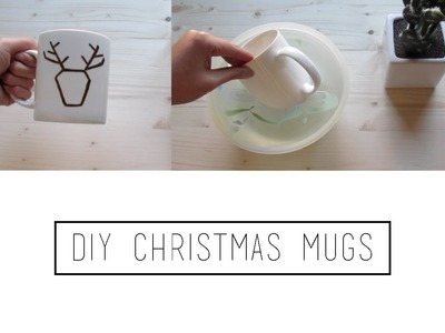 DIY Christmas Mugs | TheMariona26