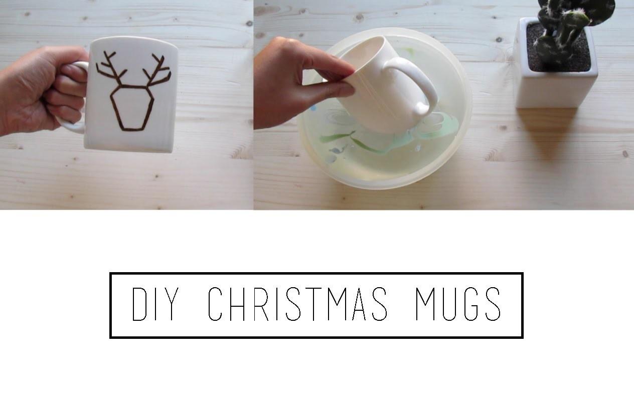 DIY Christmas Mugs | TheMariona26
