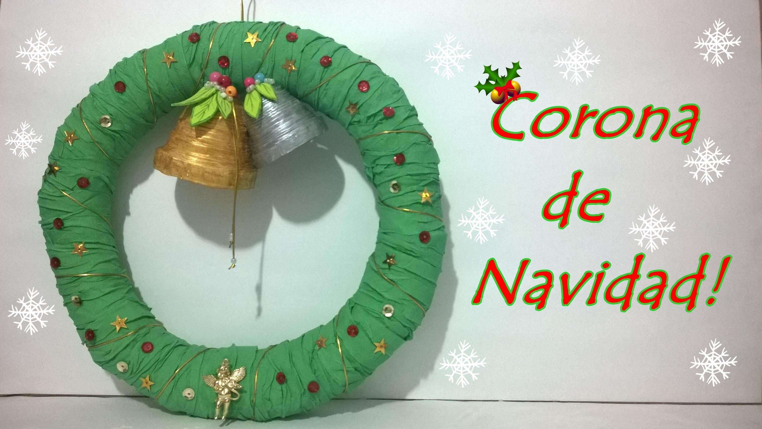 DIY!!  Corona Navideña!