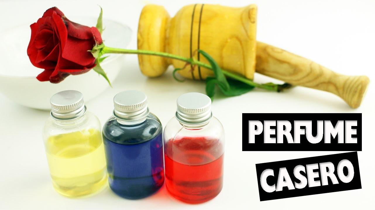 DIY |   Haz PERFUME CASERO, floral, sencillo con base de agua - Manualidades super fáciles