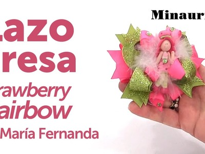 DIY - Lazo Fresita ( Moño Strawberry Hairbow )