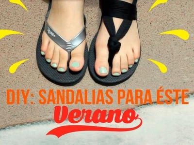 DIY SANDALIAS PARA EL VERANO♡
