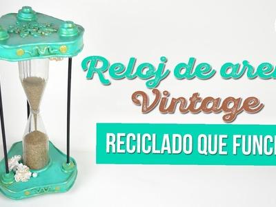 DIY  SUPER FÁCIL  Reloj de arena vintage reciclado que funciona | DIY RECICLAJE DREEN