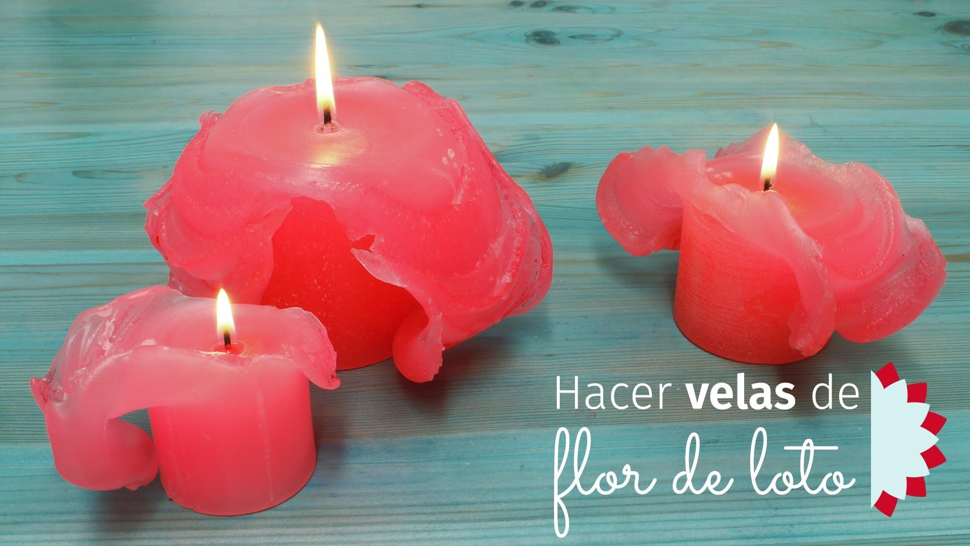 Hacer velas con flor de loto