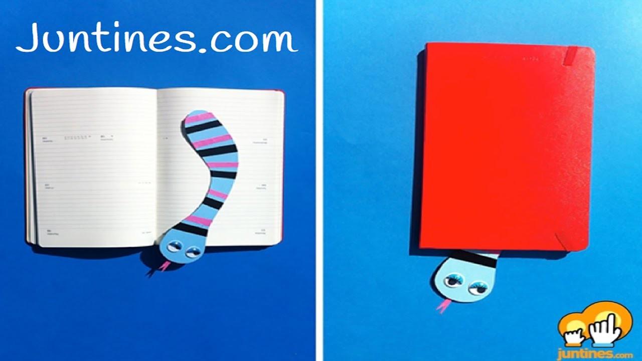 Marcapáginas de papel: Origami fácil para niños