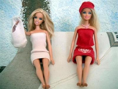 Ropa para barbie a partir de un calcetin