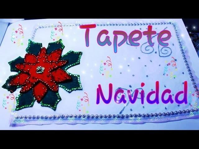 TAPETE DE MESA  NOCHE BUENA NAVIDEÑO.DECORACIONES DE NAVIDAD