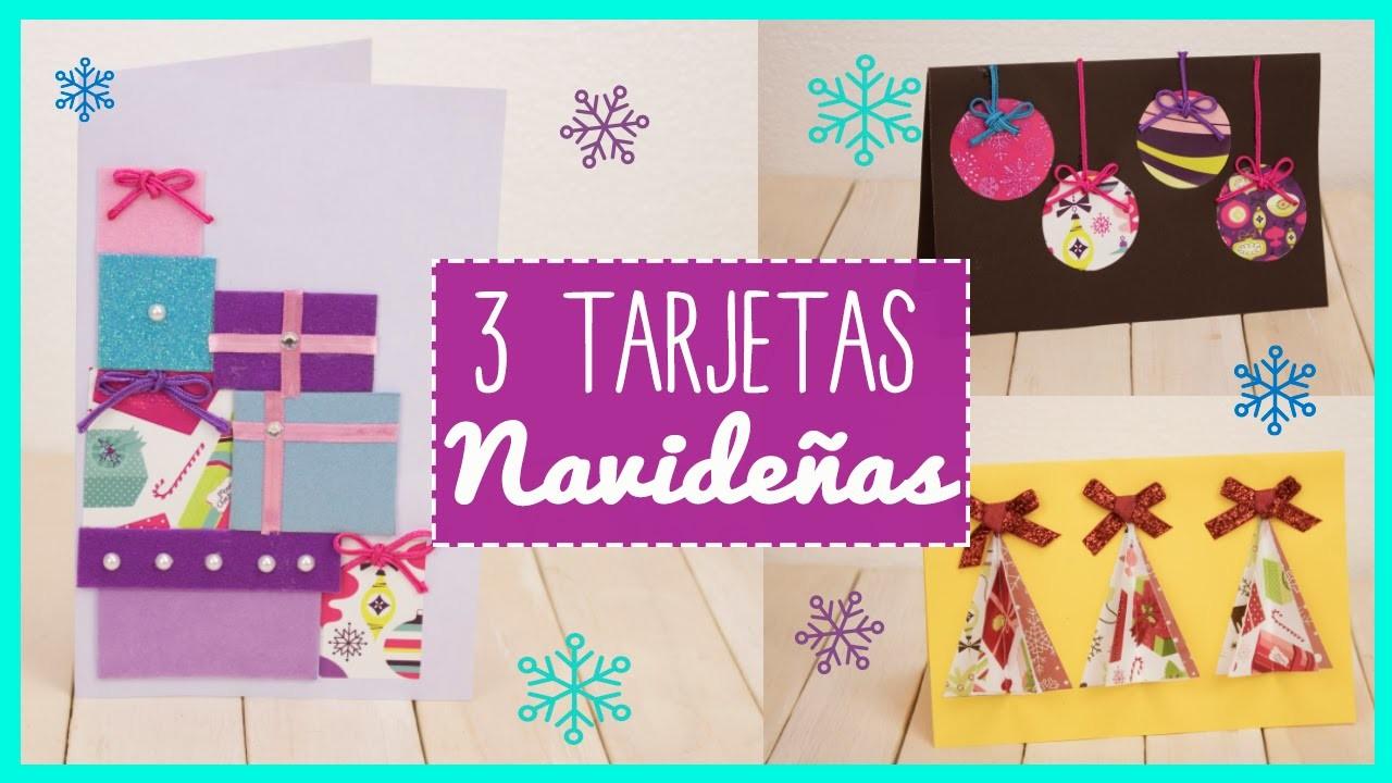 Tarjetas de Navidad - 3 Ideas - Manualidades para Navidad - DIY |Catwalk