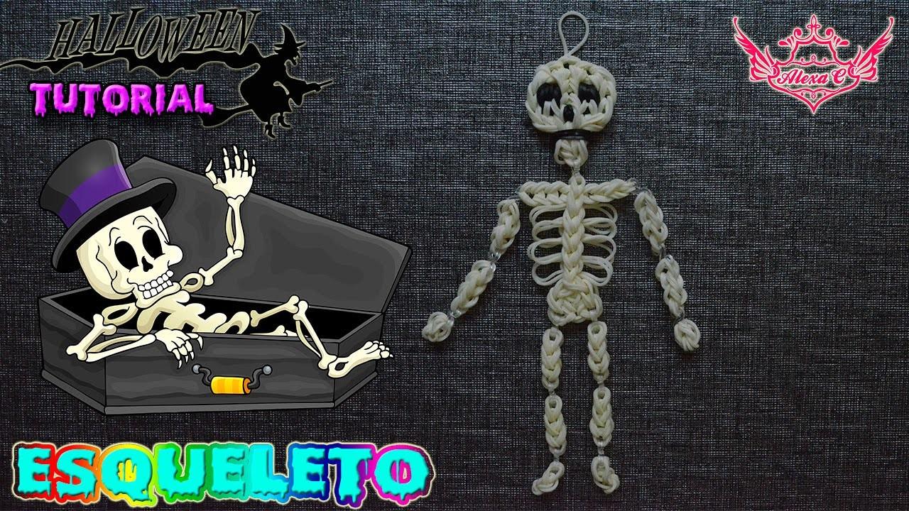 ♥ Tutorial Halloween: Esqueleto (sin telar) ♥