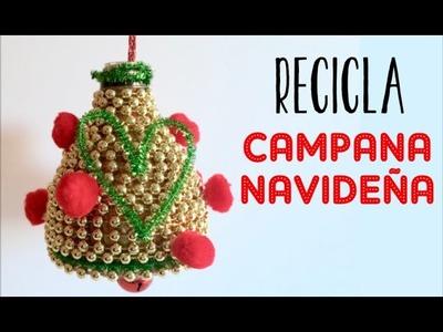 XMAS SERIES 2015: CAMPANA DE NAVIDAD - MATERIAL RECICLADO