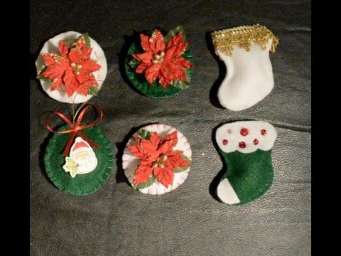 Bolitas de Navidad en Paño Lenci.