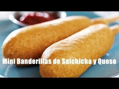 COMO HACER BANDERILLAS DE SALCHICHA | CORN DOGS | Ricardo Renteria
