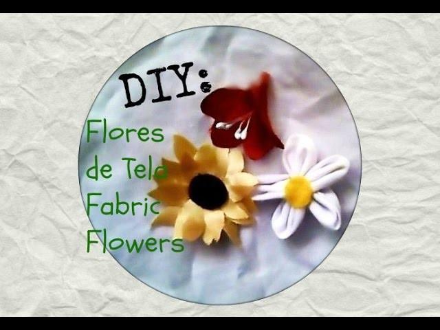 Como hacer Flores de Tela DIY    Fabric Flowers DIY