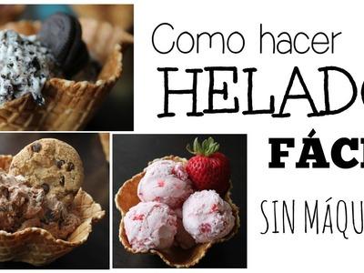 Como Hacer Helado Casero FÁCIL Y SIN MÁQUINA!!