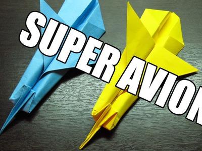 Como hacer un super avion de papel volador | Origamis de papel aviones de papel paso a paso