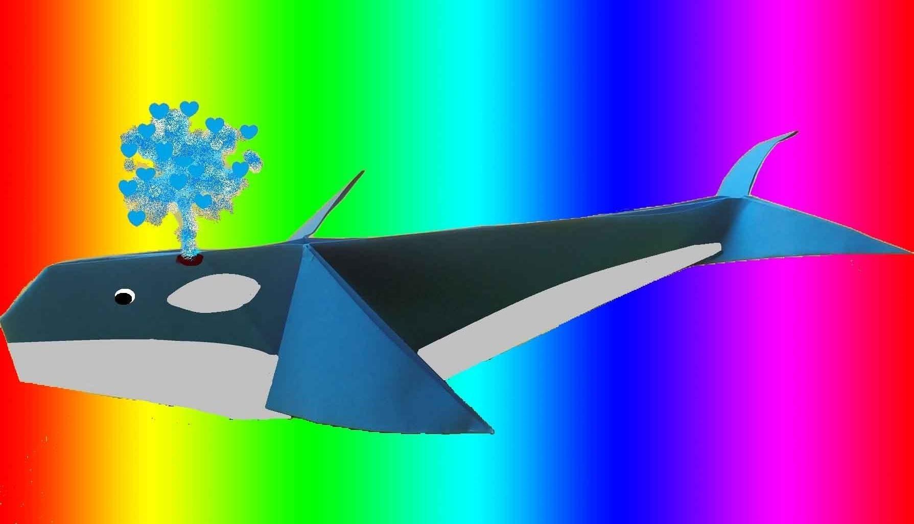 Como hacer una ballena en papel - origami