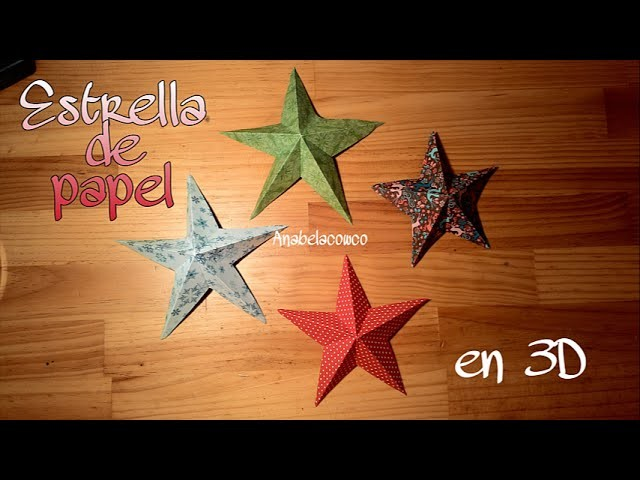 Cómo hacer una ESTRELLA DE PAPEL en 3D (DIY paper star)
