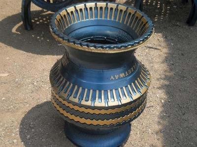 Como se hacen jarrones reciclados para macetas (paso a paso) llantas