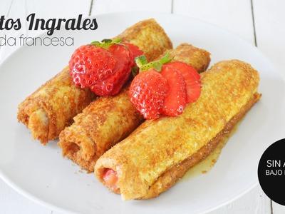Desayuno Saludable: Rollitos Integrales de Tostada Francesa en menos de 15 min
