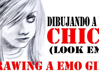 DIBUJANDO A UNA CHICA (EMO) - DRAWING A EMO GIRL